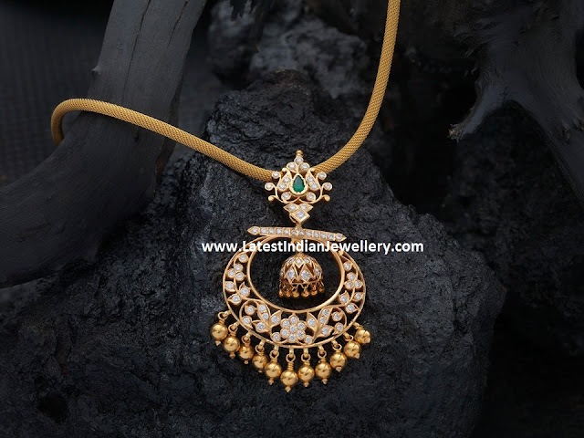 Diamond Chandbali Pendant