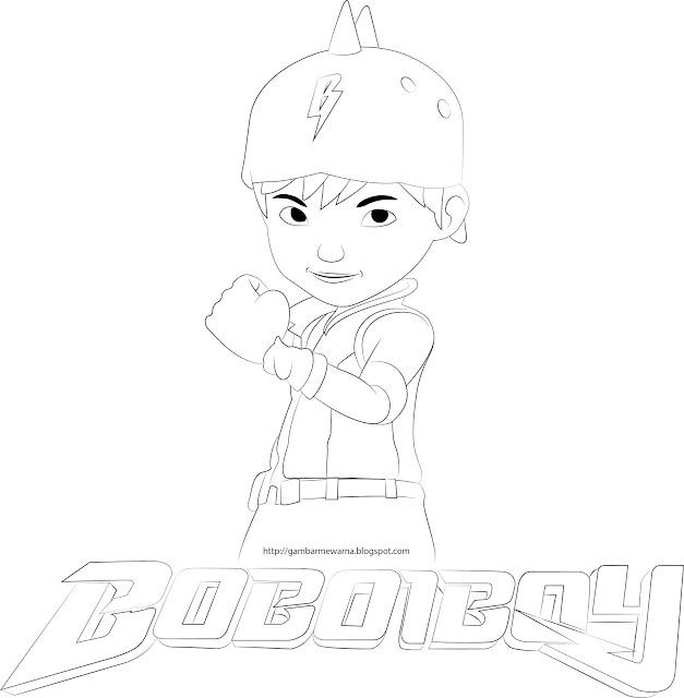 Gambar Mewarna BoBoiBoy Galaxy