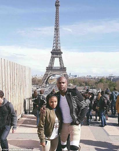 Floyd Mayweather spends daddy- daughter time with Iyanna in Paris (See Photo)