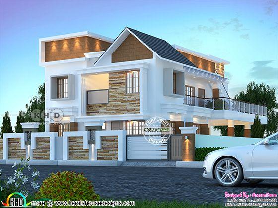 Beautiful house with side balcony