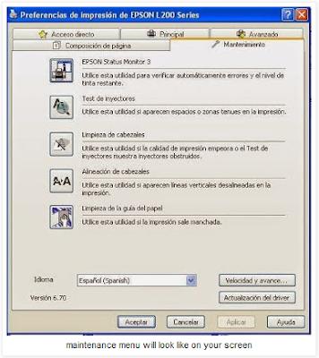 Cara Melakukan Deep-clean Print Head dalam printer Epson L200