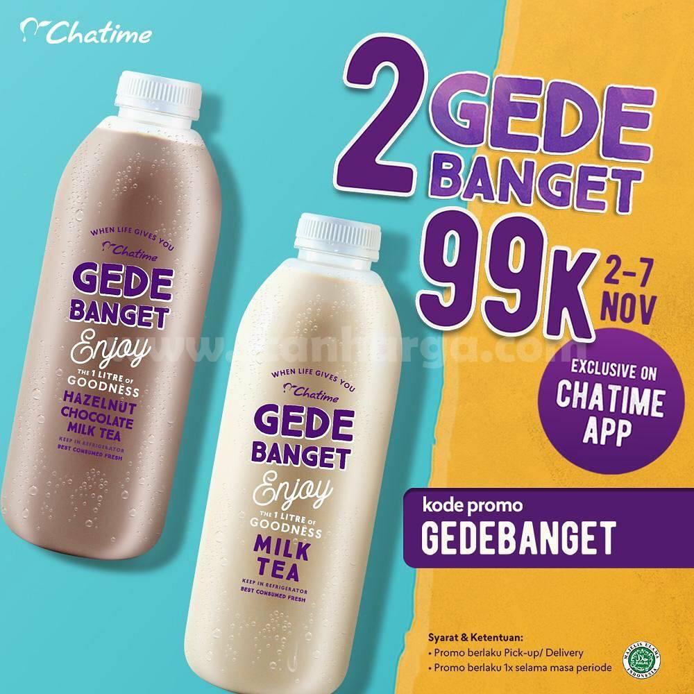 CHATIME Promo Paket Minuman 2 GEDE BANGET hanya Rp 99.000*