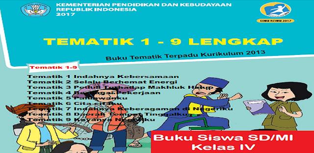 Materi Buku Kelas 4 Tematik 1-9 Lengkap Kurikulum 2013 jalurppg.id