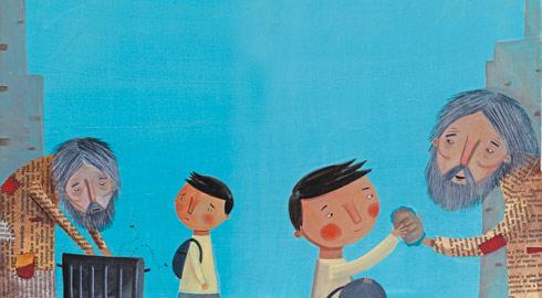 Cosas de reli valor compasi n - Dibujos de pared para ninos ...
