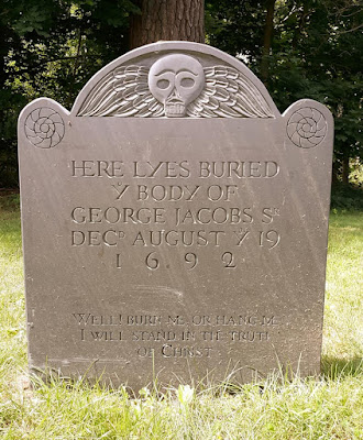 George Jacobs. Gravesite. Danvers, Massachusetts. 1692 Salem Witchcraft Trials victim