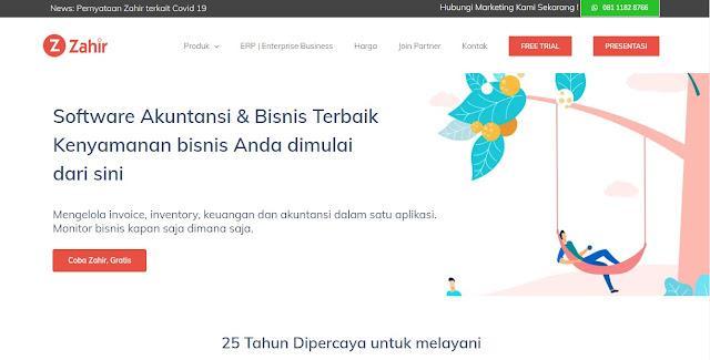 Screenshot Website Accounting