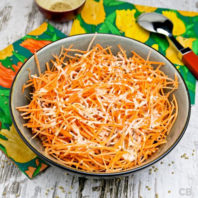 Recept Makkelijke wortelsalade met honing-mosterddressing