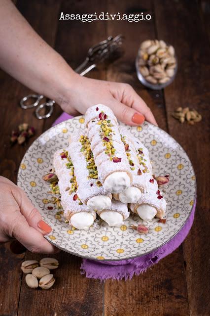 Cream rolls afghani