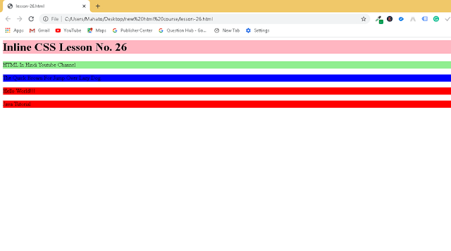 Inline CSS In HTML