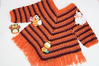 2 - Crochet Imagen Poncho otoñal a crochet y ganchillo por Majovel Crochet