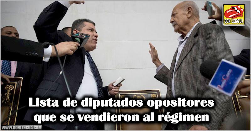 Lista de diputados opositores que se vendieron al régimen
