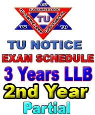 LLB 2nd year Exam Schedule