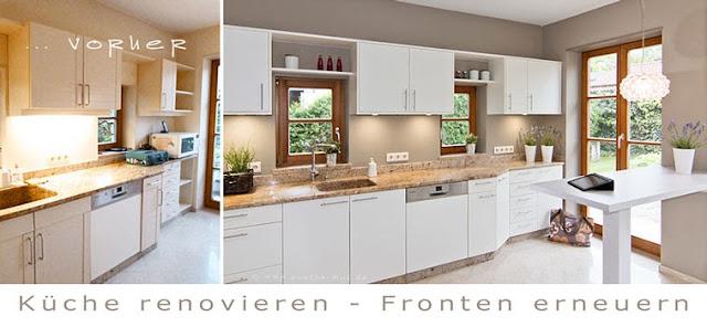 Landhausküche modernisieren und wertvolle Granit Arbeitsplatte erhalten