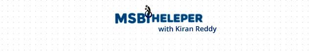 Journey to MSBI Helper with Kiran Reddy A