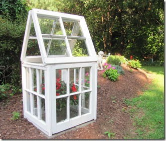 easy greenhouse build with vintage windows