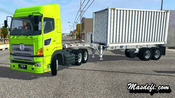 mod truck hino 700 peti kemas trailer
