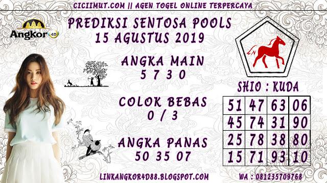 PREDIKSI SENTOSA POOLS 15 AGUSTUS 2019