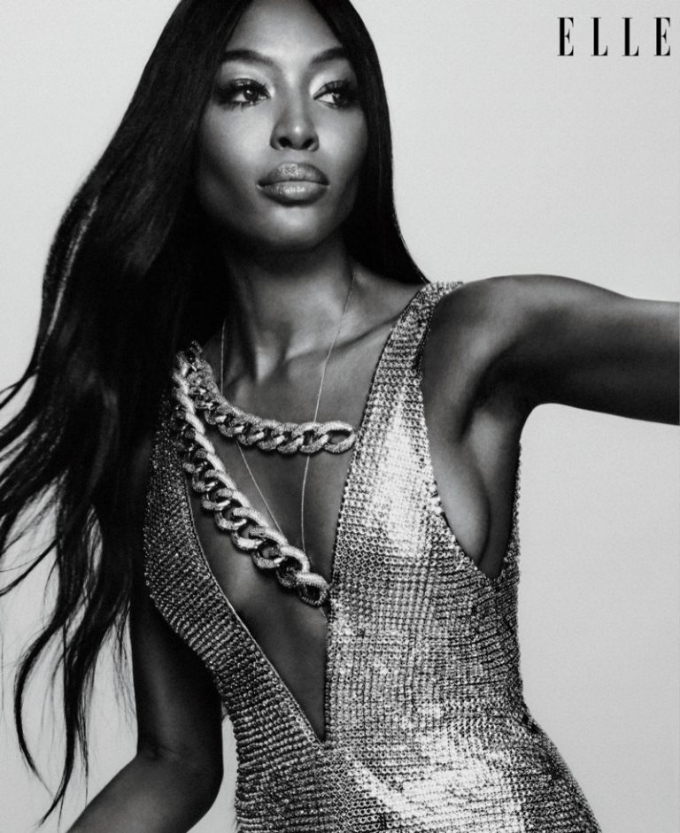 Naomi Campbell wears Tom Ford dress