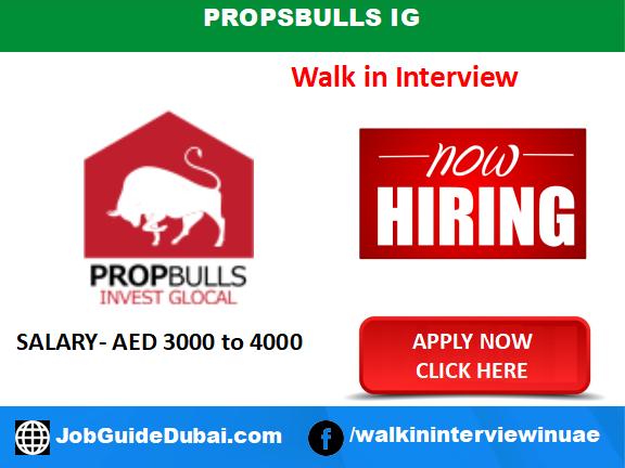 PropBulls IG career for Real Estate Investment consultant jobs in Dubai UAE