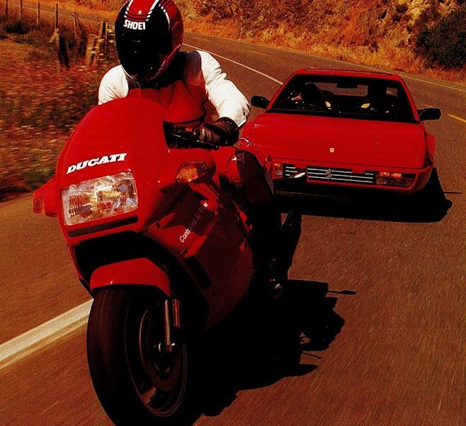 Ducati Paso 750 vs. Ferrari Mondial, 1987