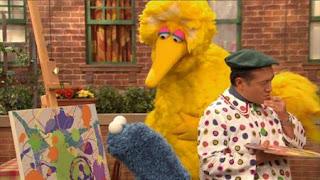 Cookie Monster, Alan, Big Bird, Sesame Street Episode 4407 Still Life With Cookie season 44
