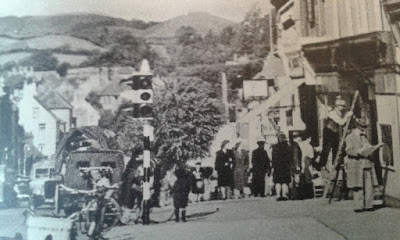Traffic Lights opposite town hall Bridport after 1935 exact date unknown