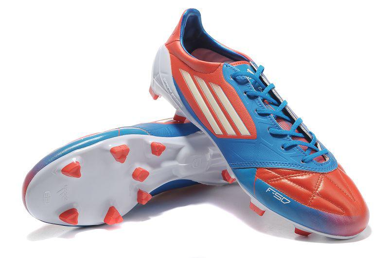 299e4609a ... italy adidas f50 adizero micoach leather trx fg black red blue white  8e1c5 ee384
