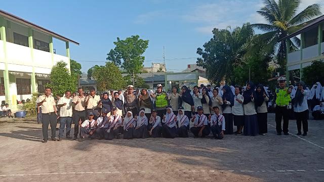 Polres Tanjung Balai,Police Go To School di SMP N 12 Kota Tanjung Balai