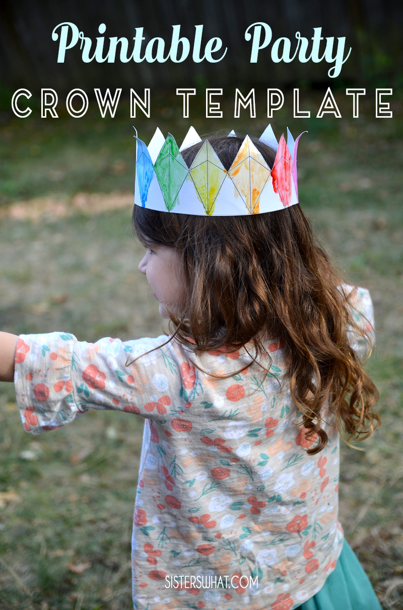 printable party crown template