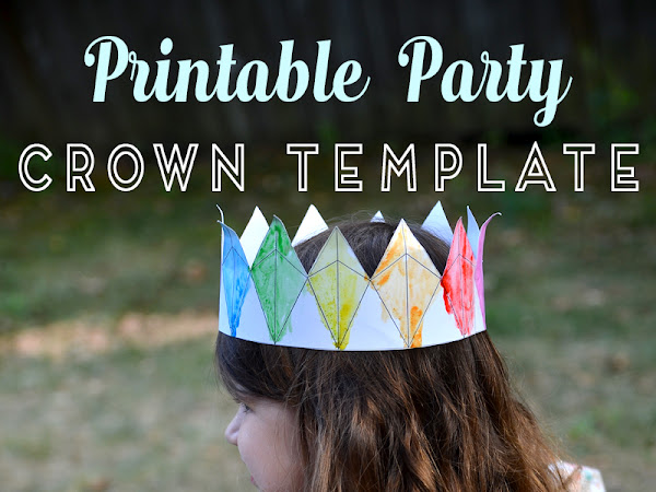 Printable Party Crown Coloring Page