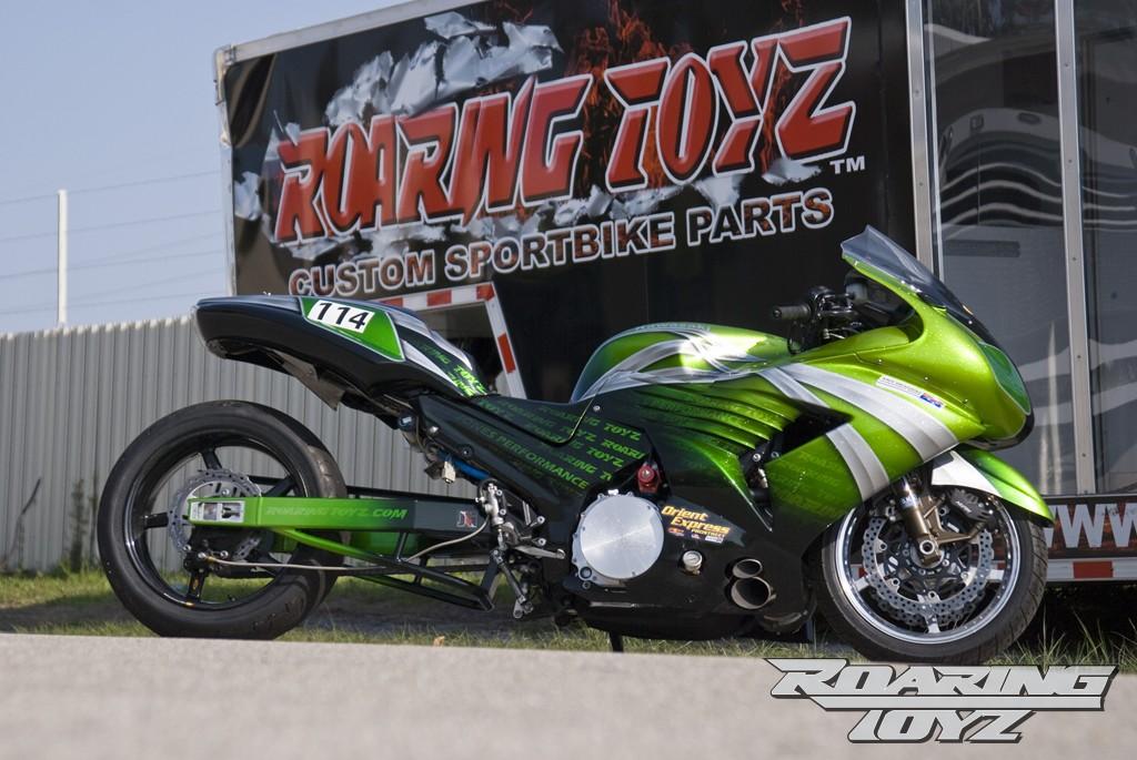 Racing Caf    Kawasaki ZX14 Turbo Drag Bike by Roaring    Toyz