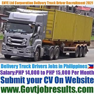 ENYE Ltd Corporation Delivery Truck Driver Recruitment 2021-22