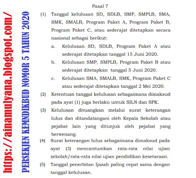 Contoh Surat Keterangan Kelulusan siswa SMP Tahun  CONTOH SURAT KETERANGAN KELULUSAN SMP TAHUN 2020 (SURAT PENGUMUMAN KELULUSAN SMP TAHUN 2020)