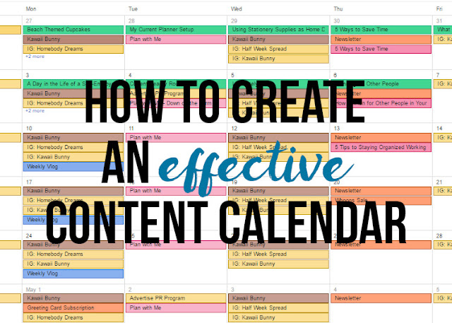 How to Create an Effective Content Calendar