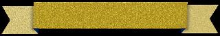 Faixa ribbon glitter dourada - Criação Blog PNG-Free