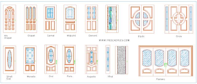 Wooden Doors DWG