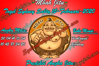 Syair Mbah Jitu Togel Sydney Sabtu 15 Februari 2020