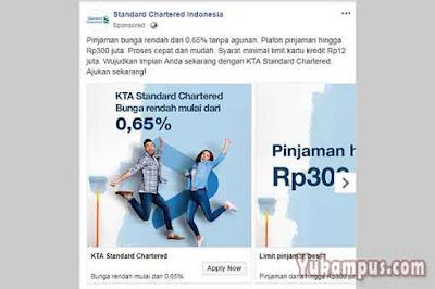contoh iklan facebook ads standard chartered