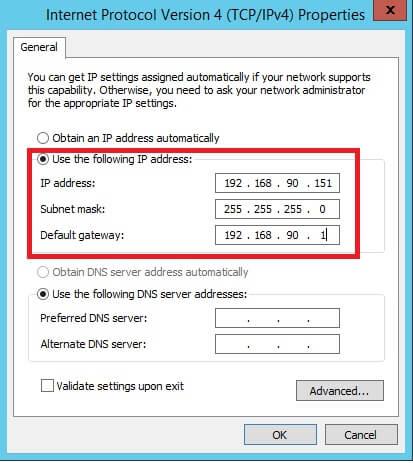 setting ip address lan card adapter