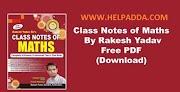 Rakesh Yadav Math Class Notes for SSC PDF Download (Hindi)