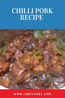Indo-Chinese style pork recipe
