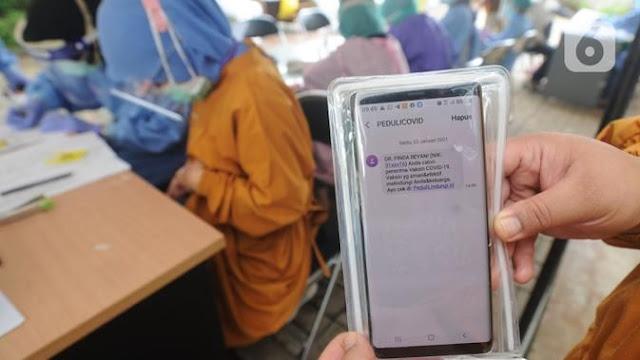 TNI dan Polri Akan Datangi Warga Yang Tak Respons SMS Terkait Vaksinasi