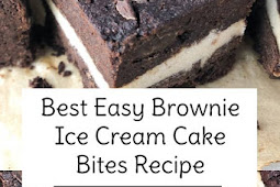 Best Easy Brownie Ice Cream Cake Bites Recipe