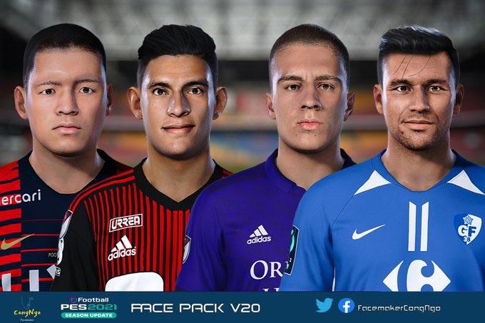 Facepack V20 2021 For eFootball PES 2021