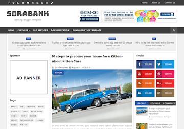 Sora Bank Blogger Template