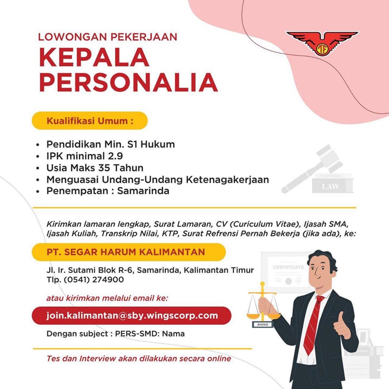 Lowongan Kerja SMA SMK D3 S1 Wings Group Indonesia Bulan ...