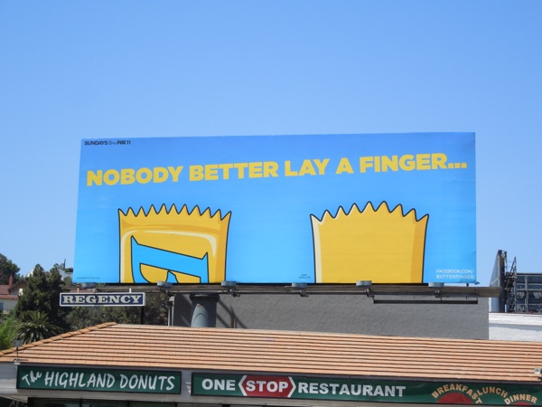Butterfinger Nobody better lay a finger billboard