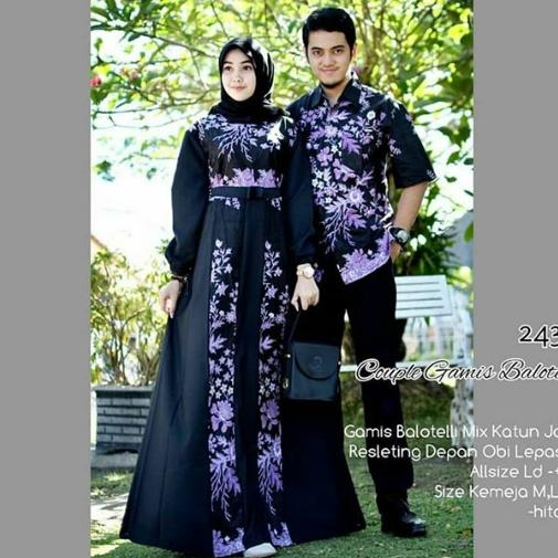 Model Gamis Batik Kombinasi Polos Terbaru 2020 Model Baju