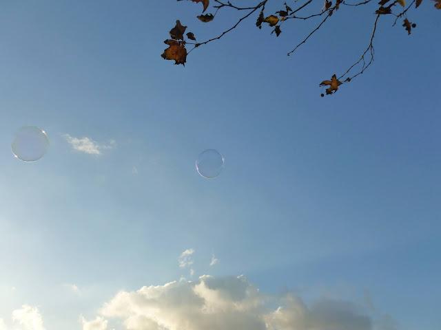 betty manousos blue sky bubbles