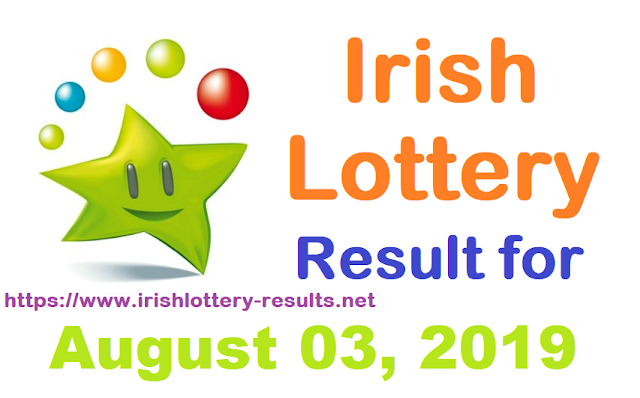 Irish Lottery Results for Saturday, August 03, 2019